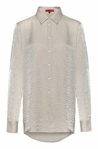 Regular-fit blouse in shimmering textured fabric
