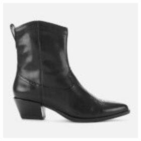 Vagabond Women's Emily Leather Western Boots - Black - UK 8 - Black