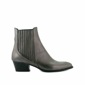 Metallic Sandiego Leather Boots