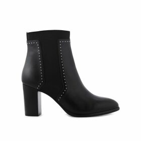 Emira Leather Heeled Boots with Studs