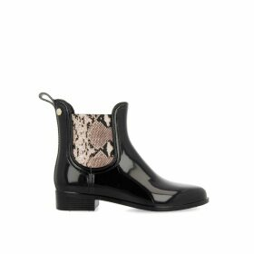 Tervuren Wellington Boots in Faux Snakeskin