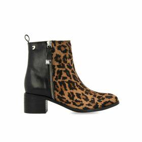 Koyuk Suede Ankle Boots in Leopard Print