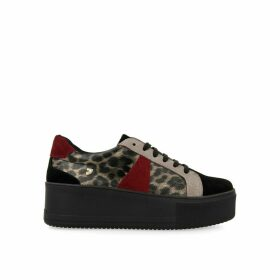 Vaxjo Flatform Trainers in Animal Print