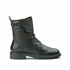 Sly Studs Leather Boots