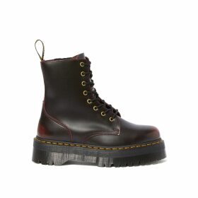 Jadon Arcadia Leather Wedge Boots with Lace-Up Fastening