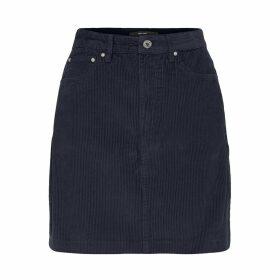 Straight Short Velvet Effect Cotton skirt