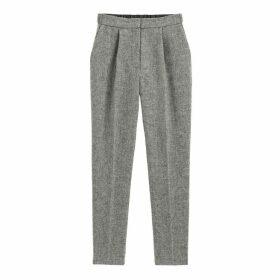 Herringbone Slim Trousers, Length 28