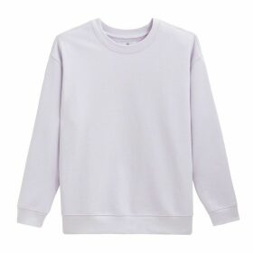 Plain Cotton Sweatshirt with Crew Neck