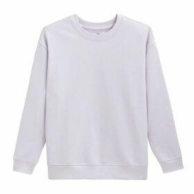 Plain Cotton Crew-Neck Sweatshirt