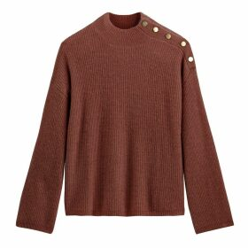 Buttoned High Neck jumper