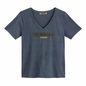 Short Sleeved T-shirt with Logo on Chest