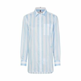 Striped Cotton Long Shirt