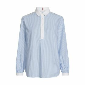 Cotton Long-Sleeved Blouse