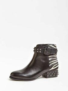 Guess Aelanin Leather Animalier Stud Boot