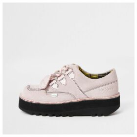 River Island Womens Kickers light Pink Lo Stack creeper boots
