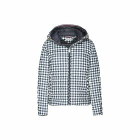 Checked Hooded Padded Jacket