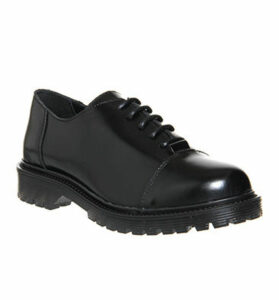 Office Lexus Heavy Sole Lace Up BLACK BOX LEATHER