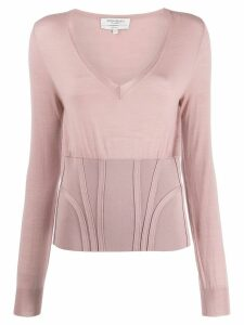 Yves Saint Laurent Pre-Owned long sleeve knit top - PINK