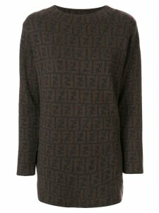 Fendi Pre-Owned Zucca pattern jumper - Brown