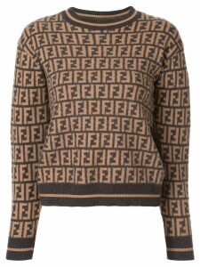 Fendi Pre-Owned Zucca monogram jumper - Brown