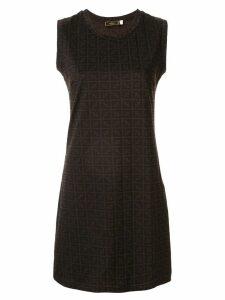 Fendi Pre-Owned monogram printed mini dress - Brown