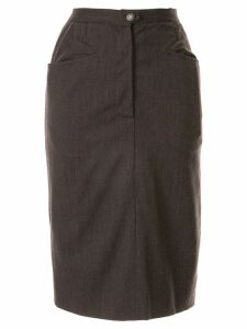 Chanel Pre-Owned slim-fit knee-length skirt - Green