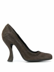 Prada Pre-Owned 1990s contoured heel pumps - Brown
