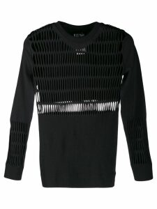 adidas by Stella McCartney Warp cut-out knitted top - Black