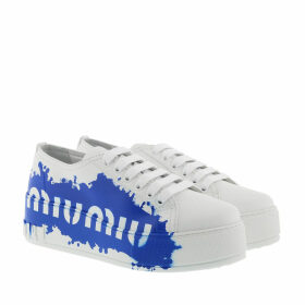 Miu Miu Sneakers - Miu Miu Splash Sneakers White/Blue - white - Sneakers for ladies