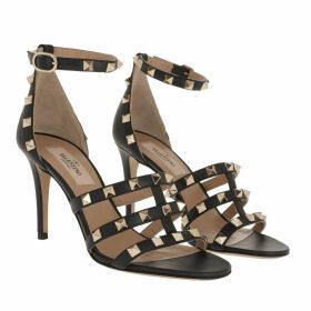 Valentino Sandals - Rockstud Sandals Black - black - Sandals for ladies