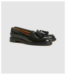 Reiss Farah - Leather Tassel Loafers in Black, Womens, Size 8