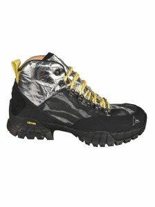 ROA Metallic Detail Hi-top Sneakers