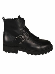 Tods Ankle Buckle Lace-up Boots