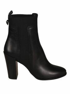 Tods High Block Heel Elastic Side Boots