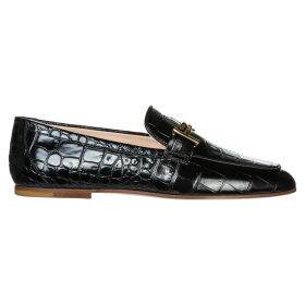 Tods Leather Loafers Moccasins Double T