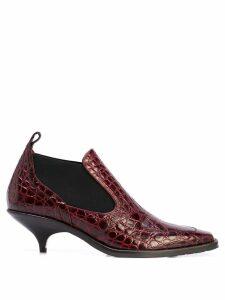 Sies Marjan Kora 50mm crocodile effect boots - Red