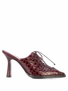 Sies Marjan Stella croc-effect mules - Red