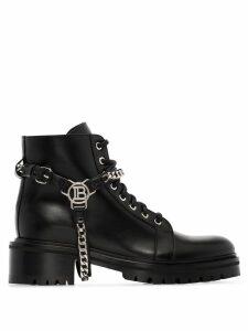 Balmain ranger chain ankle boots - Black