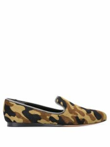 Veronica Beard camouflage print loafers - Green