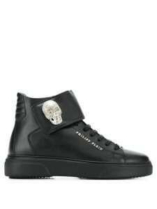 Philipp Plein skull high-top sneakers - Black