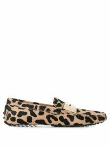 Tod's animal print loafers - Neutrals