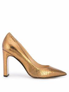 Fabio Rusconi Jon block heel pump - GOLD