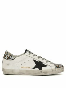Golden Goose Superstar leopard-print trim sneakers - White