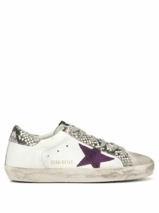 Golden Goose Superstar snake-effect trim sneakers - White