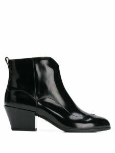 Hogan zip up ankle boots - Black