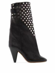 Isabel Marant Lakfee 90mm studded boots - Black