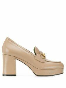 Gucci horsebit platform loafers - NEUTRALS
