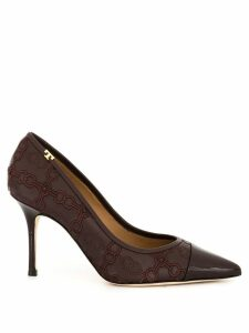 Tory Burch Penelope 85mm embroidered pumps - Purple