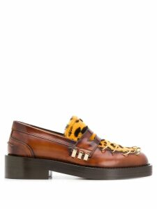 Marni leopard panel chunky loafers - Brown