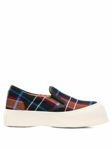 Marni checked chunky slip-on sneakers - Black